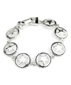 Another great find on #zulily! Silvertone Texas Star Bracelet #zulilyfinds