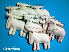 christmas ornament vintage linen
