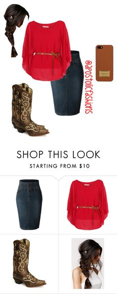 """Apostolic Fashions #951"" by apostolicfashions on Polyvore featuring LE3NO, Tony Lama, With Love From CA and Michael Kors"
