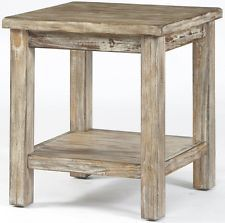 Small End Table With Storage Rustic Southwestern Farmhouse Shabby Chic Wood
