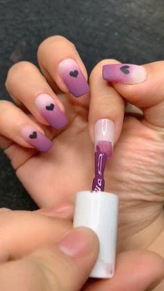 Nail Art Designs Videos, Ombre Nail Designs, Nail Art Videos, Acrylic Nail Designs, Nail Art Hacks, Nail Art Diy, Diy Nails, Nail Nail, Pink Gel