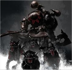 The warband of Chaos Space Marines known as Skyrar's Dark Wolves are a possible splinter faction of formerly Loyalist Space Wolves Space Marines who turned to the Dark Gods. They were first sighted by Imperial forces operating in the Fenris Sector.