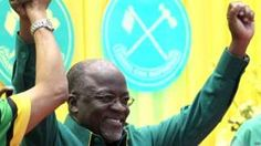 """Image copyright                  AFP                  Image caption                     The president likened top-earning officials to """"angels residing in heaven""""   Tanzanian President John Magufuli has promised to slash the salaries of senior civil servants, cutting the top wage threshold by almost two-thirds. He told supporters that it was shameful that some top officials were earning $18,000 (£13,000) a month, while others were paid as littl"""
