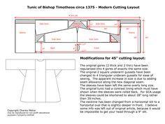 Basic Late Byzantine tunic pattern