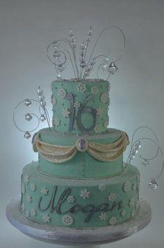 Winter Wonderland Sweet 16 Birthday - Cake by Jenniffer White