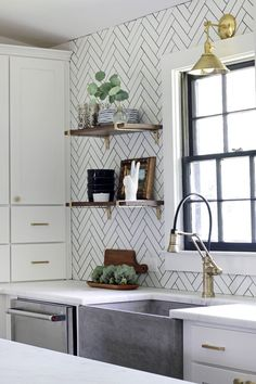 Get inspired by Modern Farmhouse Kitchen Design photo by The Hunted Interior. Wayfair lets you find the designer products in the photo and get ideas from thousands of other Modern Farmhouse Kitchen Design photos. Beautiful Kitchens, Kitchen Remodel, Home Decor, Trendy Kitchen Tile, Kitchen Dining Room, Home Kitchens, Kitchen Renovation, Kitchen Design, Timeless Kitchen