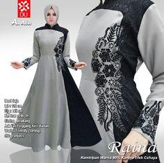 Baju Muslim Modern Flaming Overall - Model Gamis Remaja Muslim Women Fashion, Islamic Fashion, Abaya Fashion, Fashion Dresses, Simple Long Dress, Modele Hijab, Mode Abaya, Hijab Style, Stylish Dress Designs
