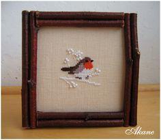 Акане в сердечках: Птичка-зарянка