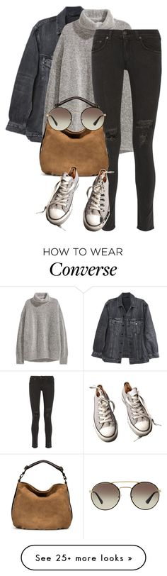 """""""Untitled #1892"""" by sully99 on Polyvore featuring Y/Project, H&M, rag & bone, UGG, Converse and Prada"""