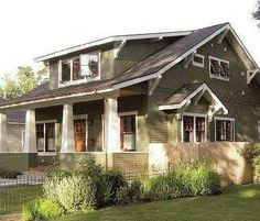 Olive green exterior house green exterior house for Exterior design vancouver wa