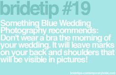 Bride tip from @SomethingBlueNJ / Contemporary Bride Magazine