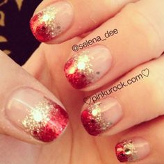 Res and Gold sparkles so cute!
