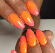 Gel Polish Oh So Special & Macarena by Monika Cis, Indigo Eucator #nails #nail #nailsart #indigonails #indigo #hotnails #summernails #springnails #ombrenails #ombre #neon #pink #orange