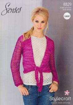Tie Front Boleros in Stylecraft Senses Lace - 8829