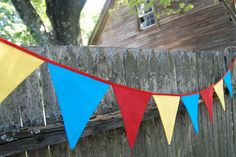 primary colored bunting banner