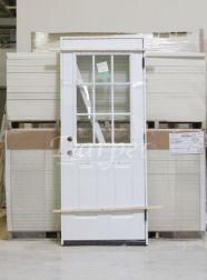 1 Lite Clear Glass Steel Exterior Door 6-8 | Darpet Interior Doors ...