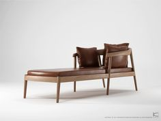 Chillax daybed in reclaimed teak with cognac leather from Sounds Like Home. Home Decor Furniture, Modern Furniture, Furniture Design, Chair Design, Wood Sofa, Guest Bed, Sofa Chair, Armchair, Upholstery