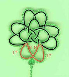 Tatting Pattern Calendar: March 13 - Ruth's Celtic 4 leaf Clover