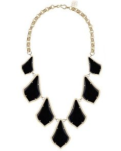 Kensey Statement Necklace in Black - Kendra Scott Jewelry. Coming soon!