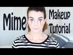 Mime Makeup Tutorial - Halloween 2015   PIN-UP JET - YouTube