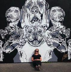 Mural by #CharlotteHawley #Lots Ponsonby, AKL , NZ