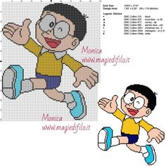 Schema punto croce Nobita (Doraemon) 100x121 7 colori.jpg (2.66 MB) Mai osservato