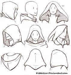 Manga Drawing Tips How to Draw a Hood; How to Draw Manga/Anime Drawing Reference Poses, Drawing Tips, Drawing Sketches, Drawing Ideas, Sketching, Drawing Drawing, Manga Drawing Tutorials, Hugging Drawing, Gesture Drawing