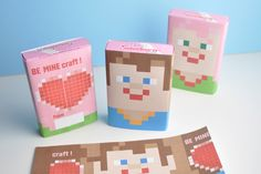 BE MINEcraft Valentines Candy Wrapper Printable