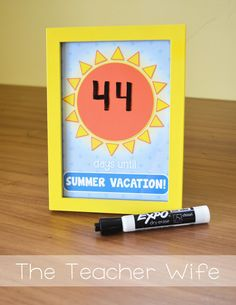 Summer Countdown Freebie! (From The Teacher Wife) Cute for the classroom or you can use it at home with your kids!