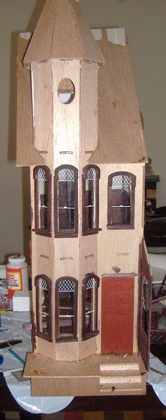 Custom Styled Dollhouse Kits: Mckinley Dollhouse Build Blog (Fireplace & Tower)