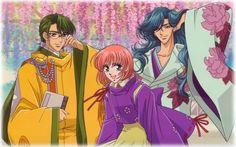Akane with Takamichi and Tomomasa (Heaven and Earth of Byakko)