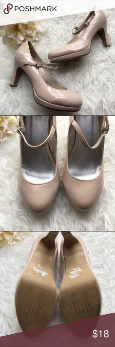 Patent leather heels 💥Discounted Bundles💥 ▪️Please use the offer feature 👍🏽 ▪️Ships within 24 hours ✈️ ▪️🚫No trades🚫No Paypal 🚫Holds ▪️ Love the item but not the price?  Make an offer! 😊 ▪️Questions?  Don't be shy!  Feel free to ask 💁🏽 ▪️Condition - Good ▪️Size - 9 ▪Description - Cute patent leather cream colored heeled Mary Janes.  These have been work a handful of times and there is a mark on the heel (pic included).  Otherwise in good condition. Lane Bryant Shoes Heels