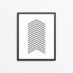 Home decor wall art with an arrow. Black and white minimalist poster. Scandinavian design: #creocrux