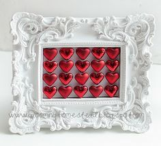 Cute Valentine's Day decoration. You could use jingle bells or snowflakes for Christmas.