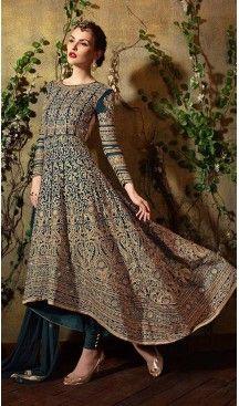 Cadet Blue Georgette Stylish Pakistani Designer Stitched Narrow Pants Kameez #heenastyle , #indian , #salwar , #kameez , #dresses , #suits , #women , #ledies , #designer , #clothing , #boutique , #online , #shopping , #anarkali , #churidar , #palazo , @heenastyle