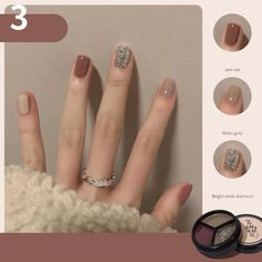 OSTTY - Three-Color Solid Glue UV Polish 2022 Canned Autumn and Winter Popular Color Nail OST1002