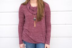 Mauve tones. 💖 #xoxoAL4You #sweater #cowlneck #shopALB #fallfashion #ootd #apricotlane The Perfect Cowl Neck Top $39 Stone & Tassel Necklace $34 Comment or click the link to order! http://form.jotform.us/form/52044697810154