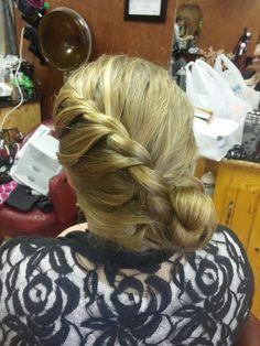 Rope braid bun by ashley von eye