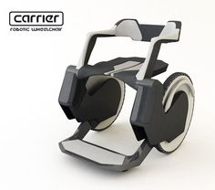 CARRIER Robotic Wheelchair features a 'trap door' seat to use the toilet without transferring but fails to address the reality of a chair users need to wear clothes.