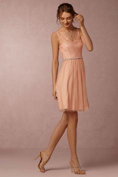 Less expensive bridesmaid dress from BHLDN but it's an interesting shade of pink?