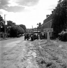 Canadian troops in Falaise, Normany, 17 August 1944, the day the town was secured.