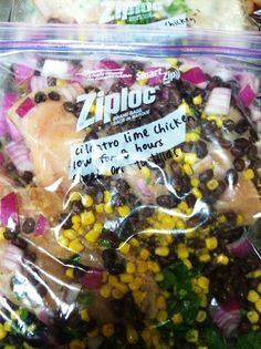 Freezer to Crockpot Meals! Get ingredients together, put in freezer bags, freeze until ready to cook in the crockpot!