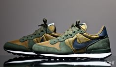 8b9613a6fc07 Sneakers Nike Internationalist Green Brown Sneakers Nike