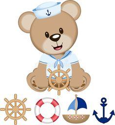 Sailor Bear Digital Clipart Vector Stock Vector - Illustration of woman, clipart: 102489236 Teddy Bear Cartoon, Teddy Bear Party, Sailor Baby Showers, Baby Boy Shower, Baby Motiv, Baby Boy Cards, Baby Painting, Baby Favors, Baby Embroidery