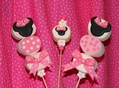 minnie mouse cake images | Paletas de Bombón de la Ratona Mimi - Minnie Mouse Marshmallow Kabobs