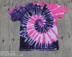 Purple and Pink Spiral Tie Dye TShirt
