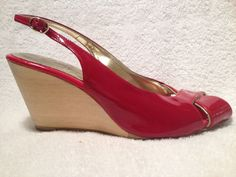 Sz 5M Red Wedges by Twins | eBay