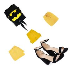 """""""Yellow&black"""" by sara-balut on Polyvore featuring WithChic, River Island, Boohoo and Nasty Gal"""