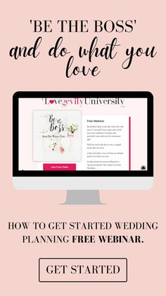 Introducing the ultimate free webinar to teach you how to start a successful wedding and event planning business from home.