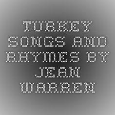 Turkey songs and rhymes by Jean Warren